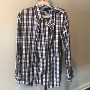 EUC Tommy Hilfiger Navy and Light Blue button down